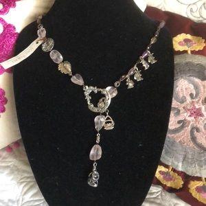 Love Heals long semi precious necklace